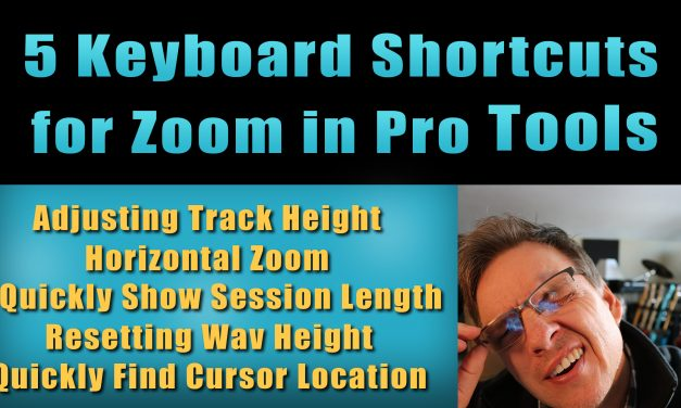 5 Keyboard Shortcuts for Zoom in Pro Tools