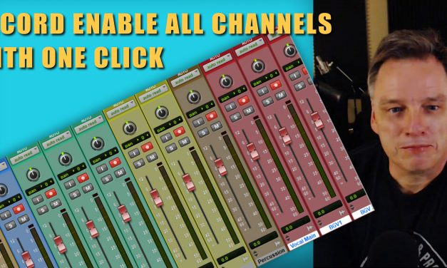 Record Enable All Of Your Channels In Pro Tools