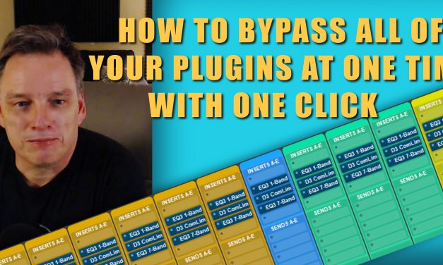 How to Bypass All of Your Plugins in a Pro Tools session W/One Click! + other Pro Tools Shortcuts.